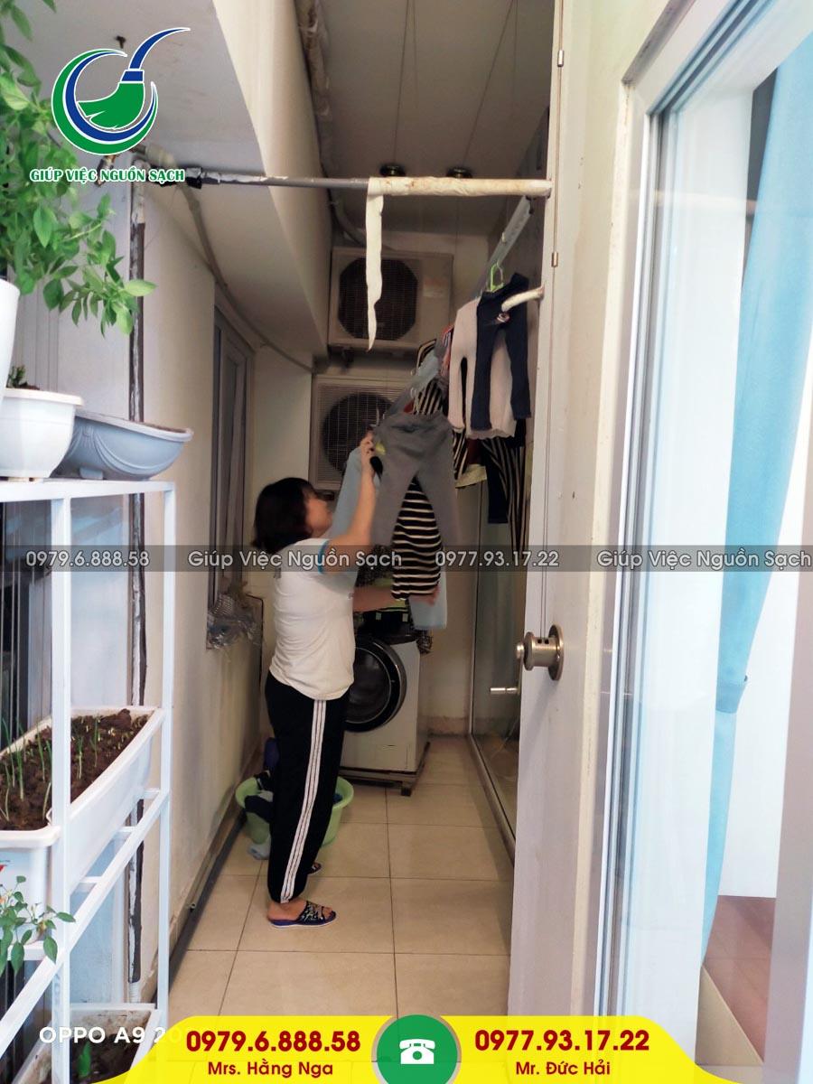 Cung cấp người giúp việc cho khách hàng tại chung cư 234 Hoàng Quốc Việt