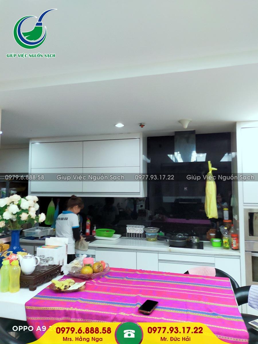 Cung cấp người giúp việc cho khách hàng tại chung cư 31 Kim Mã