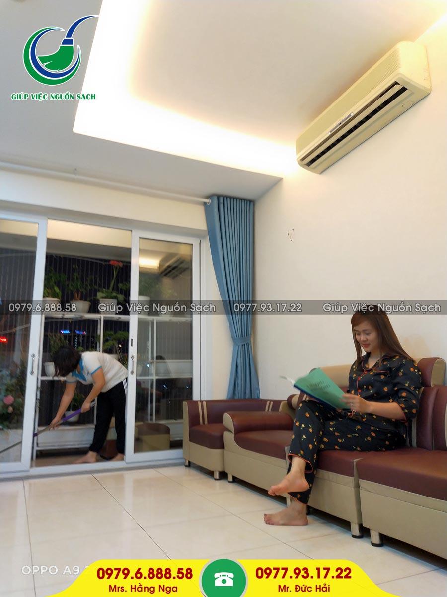 Cung cấp người giúp việc cho khách hàng tại chung cư 60 Lê Văn Lương