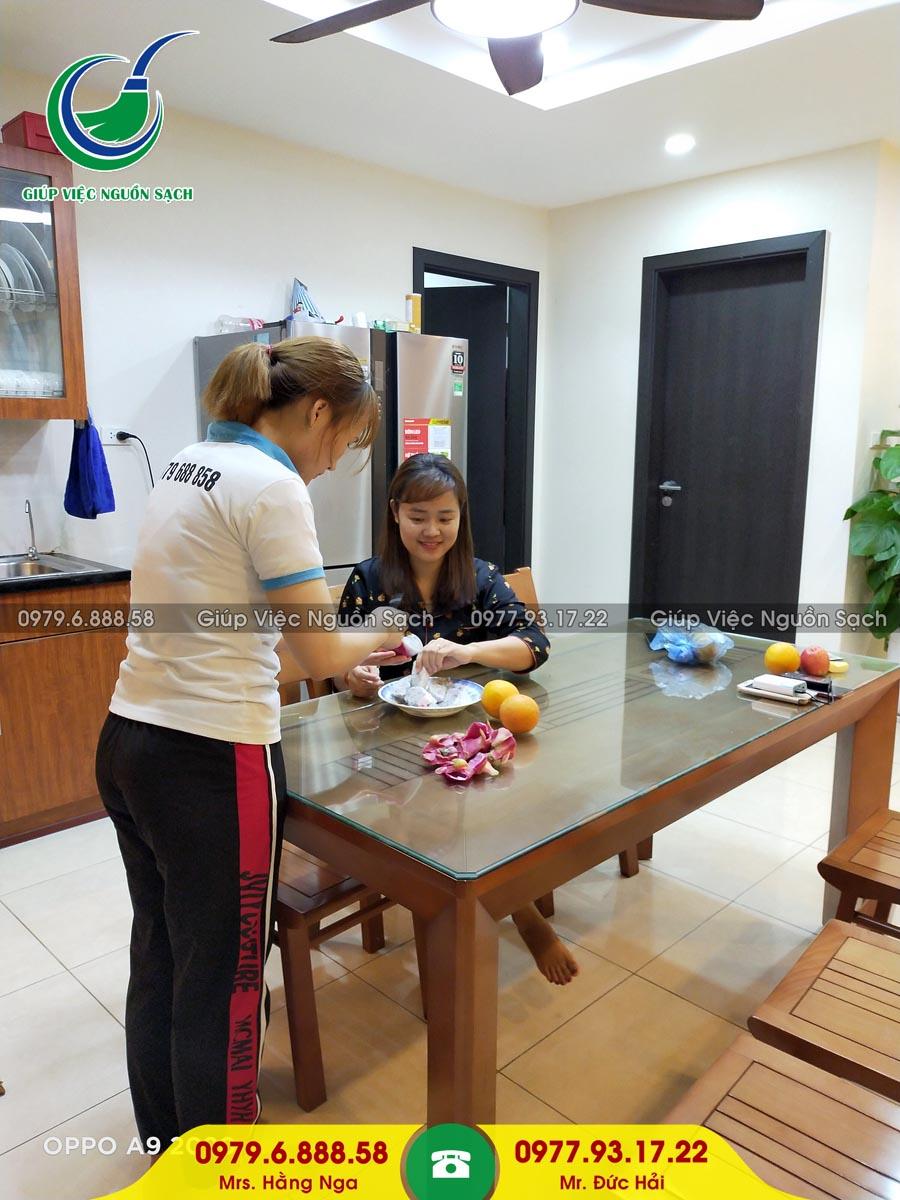 Cung cấp người giúp việc cho khách hàng tại chung cư 44 Triều Khúc