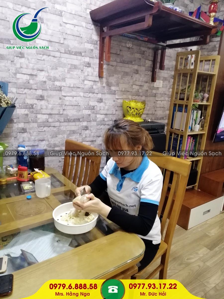 Cung cấp người giúp việc cho khách hàng tại chung cư 90 Nguyễn Tuân