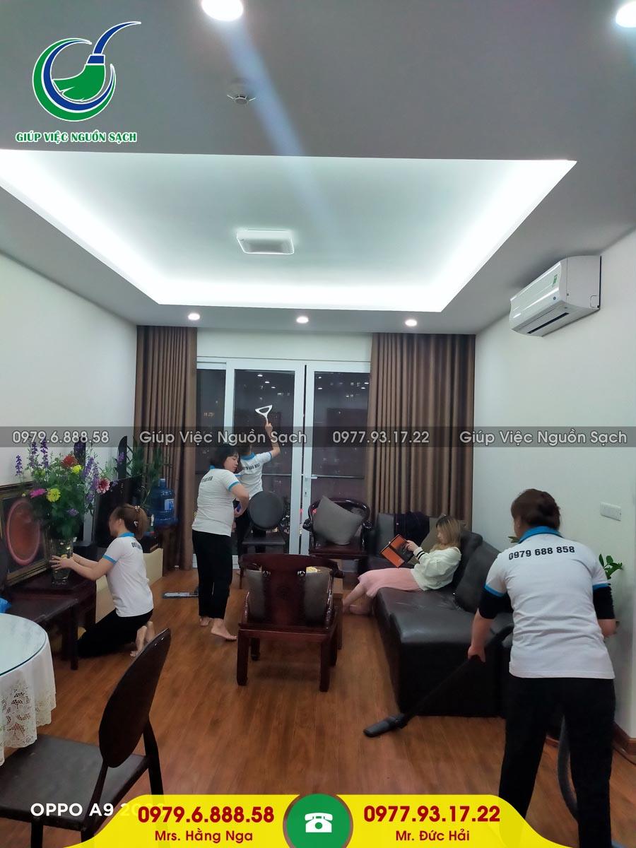 Cung cấp người giúp việc cho khách hàng tại chung cư 82 Nguyễn Tuân