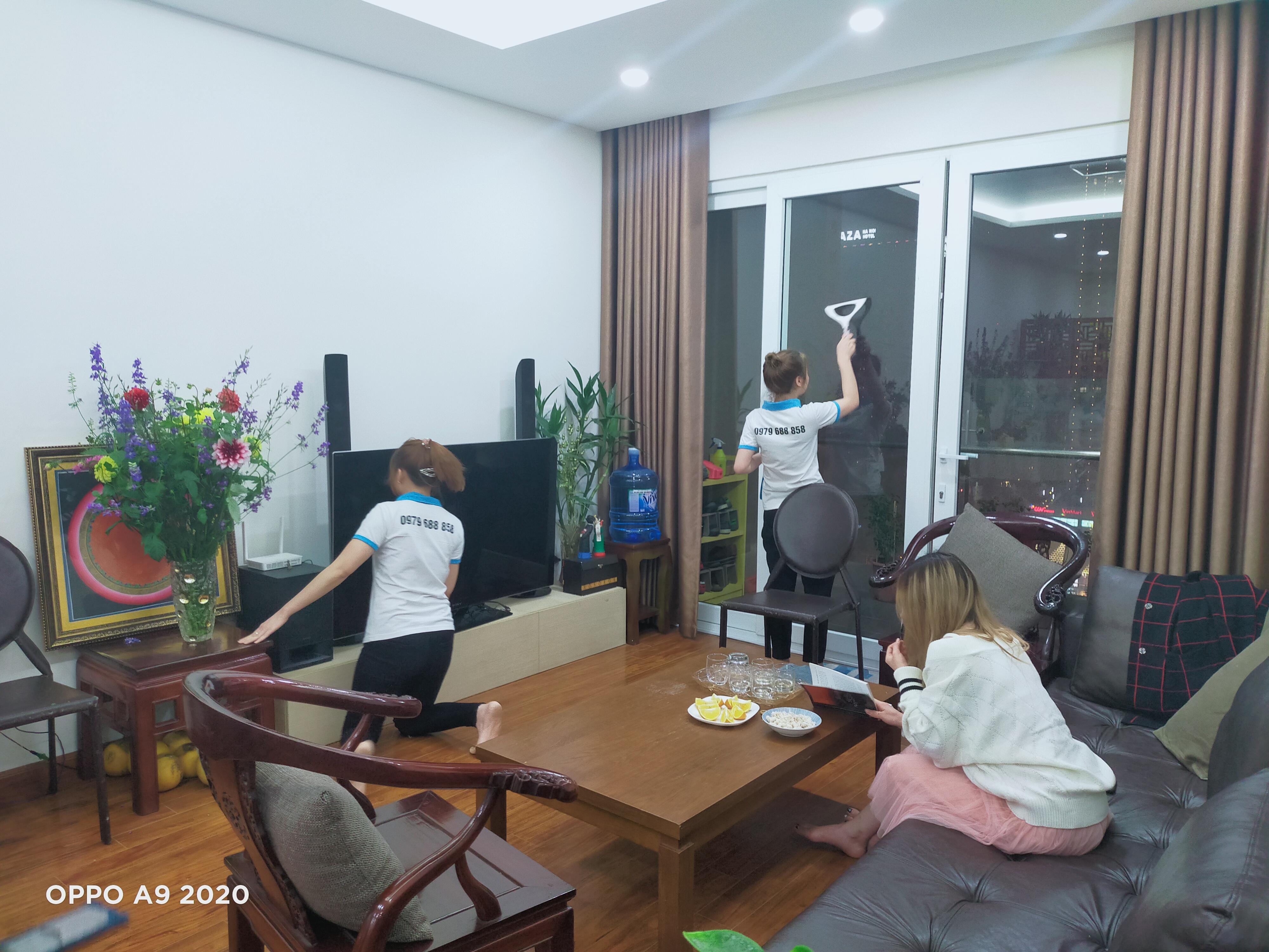 Cung cấp người giúp việc cho khách hàng tại chung cư 55 Lê Đại Hành