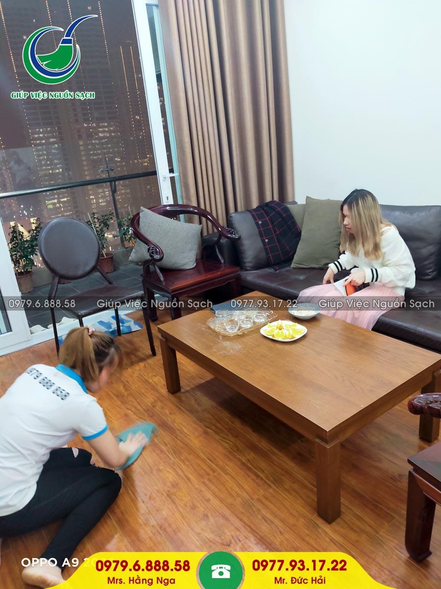 Cung cấp người giúp việc cho khách hàng tại chung cư 122 Vĩnh Tuy