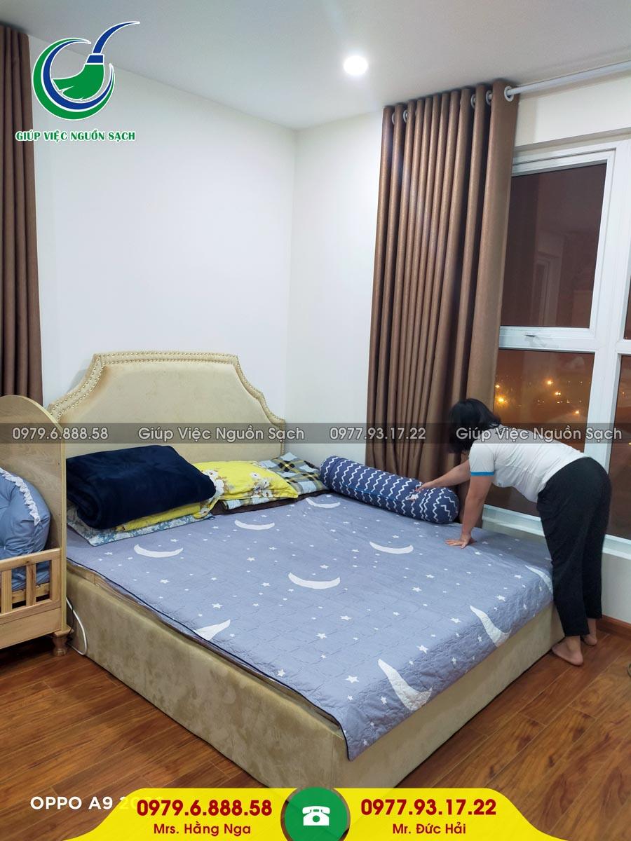 Cung cấp người giúp việc cho khách hàng tại chung cư 31 Láng Hạ