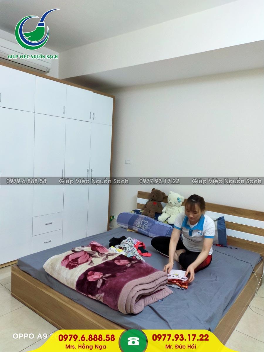Cung cấp người giúp việc cho khách hàng tại chung cư 93 Đức Giang