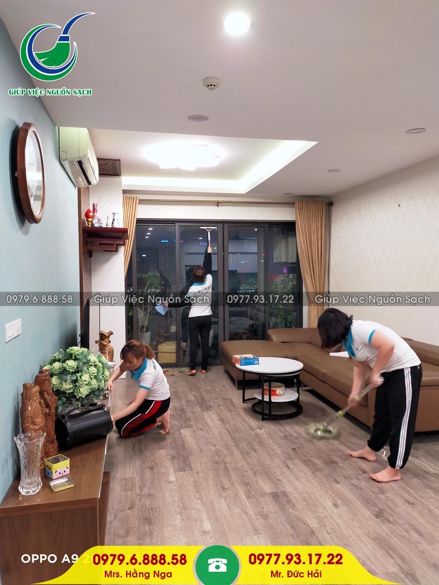 Cung cấp người giúp việc cho khách hàng tại chung cư 60 Hoàng Quốc Việt