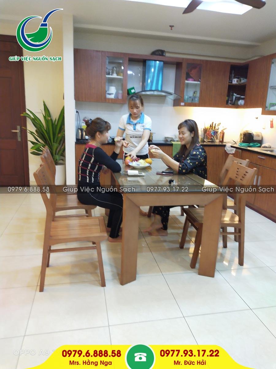 Thuê giúp việc nhà theo giờ tại Hà Nội