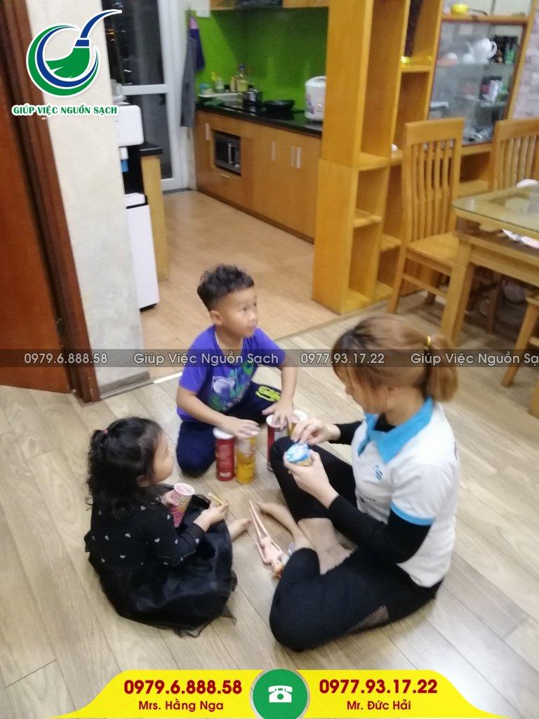 Giúp việc nhà chăm bé tại Hà Nội