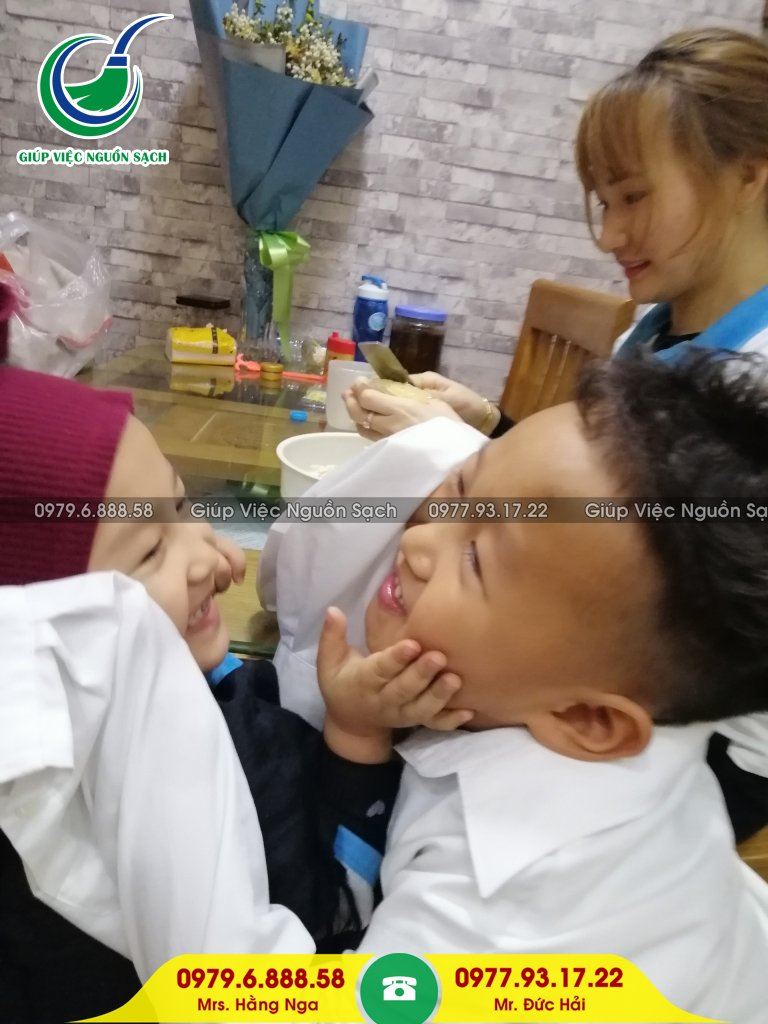 Giá giúp việc nhà chăm trẻ tại Hà Nội