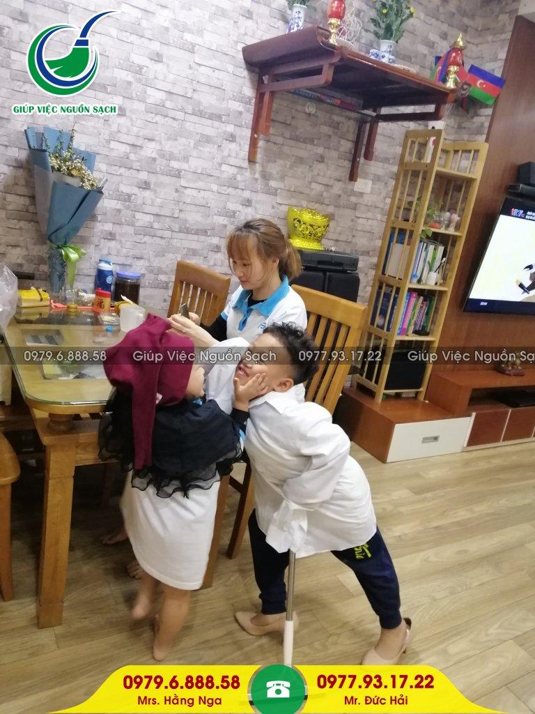 Giá giúp việc nhà chăm bé tại Hà Nội