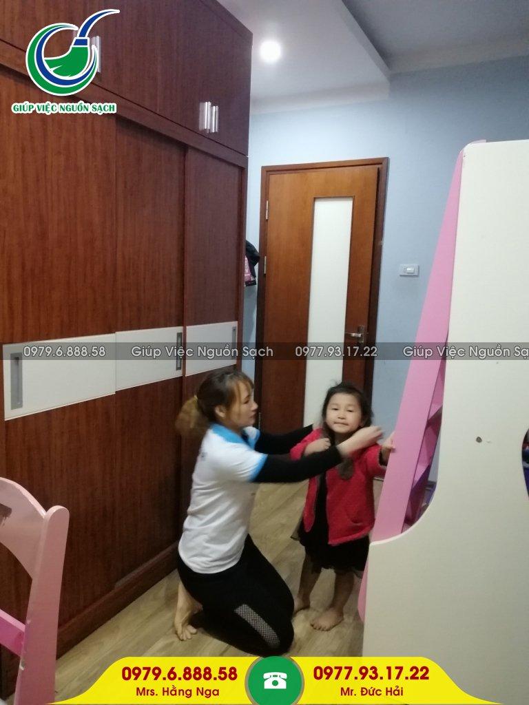 Tìm giúp việc nhà chăm bé tại Hà Nội